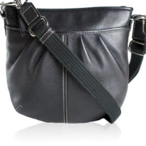 Coach Small Pleated Swing Pack Leather Crossbody